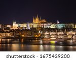 Prague Cityscape At Night. View ...