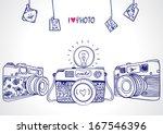 illustration sketch vintage... | Shutterstock .eps vector #167546396