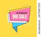 sale banner template design in...   Shutterstock .eps vector #1675467253
