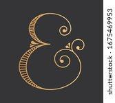 ampersand symbol. gold design ...   Shutterstock .eps vector #1675469953