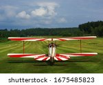 Vintage Airplane Biplane On A...