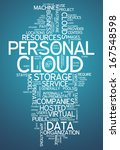 word cloud with personal cloud... | Shutterstock . vector #167548598