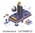 booking landing page vector...