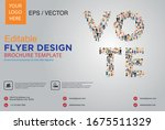 poster and flyer design with... | Shutterstock .eps vector #1675511329