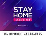 stay home quarantine... | Shutterstock .eps vector #1675515580