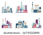set of industrial factory and... | Shutterstock .eps vector #1675532890