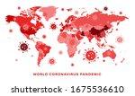 coronavirus pandemic worldmap.... | Shutterstock .eps vector #1675536610