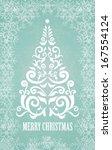 christmas greeting frame  ... | Shutterstock .eps vector #167554124