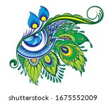 Peacock Decorative Eye Isolated ...