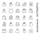 Sack  Icon Set. Bags With...