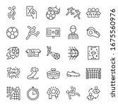 football  icon set. soccer.... | Shutterstock .eps vector #1675560976