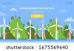 ecology windmill on nature...
