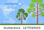 eco tree flyer  web banner  ui...