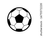 soccer ball icon. flat vector... | Shutterstock .eps vector #1675572220