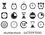 time and clock icon set....   Shutterstock .eps vector #1675597030