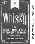 whisky typo set | Shutterstock .eps vector #167560544