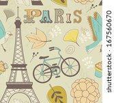 paris seamless pattern | Shutterstock . vector #167560670