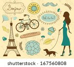 paris related items... | Shutterstock . vector #167560808