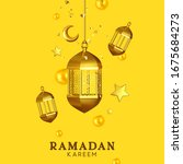 ramadan kareem. background... | Shutterstock .eps vector #1675684273
