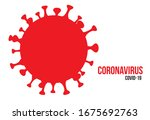 a view of coronavirus... | Shutterstock . vector #1675692763