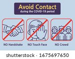 avoid contact during the covid... | Shutterstock .eps vector #1675697650
