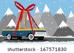 cartoon pickup truck in the... | Shutterstock .eps vector #167571830