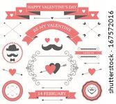 Vector Set Of Valentine\'s Day...