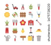 set of icon gardening on white... | Shutterstock .eps vector #1675728220
