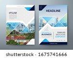 annual report brochure flyer... | Shutterstock .eps vector #1675741666