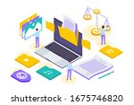 isometric copyright and... | Shutterstock .eps vector #1675746820