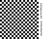 black white chess background.... | Shutterstock .eps vector #1675749223