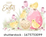 Cute Easter Chick With A Hand...