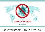 sign caution coronavirus. stop... | Shutterstock .eps vector #1675779769
