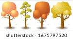 set of vector tree in autumn...
