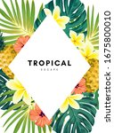 green summer tropical... | Shutterstock .eps vector #1675800010