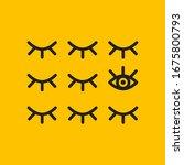 symbol of unique vision  open... | Shutterstock .eps vector #1675800793