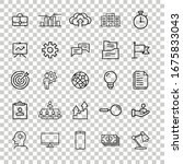 business icon set in flat style.... | Shutterstock .eps vector #1675833043