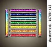 fluorescent lamp's set  vector...   Shutterstock .eps vector #167584613