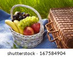 Picnic In The Garden. Basket...