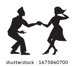 a black silhouette of a man and ...   Shutterstock .eps vector #1675860700