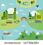 Cartoon Map Seamless Pattern...