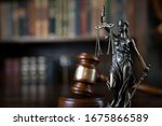 Law And Justice. Bokeh...