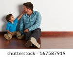 father and son | Shutterstock . vector #167587919