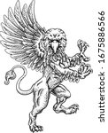 a griffin also known as a...   Shutterstock .eps vector #1675886566