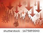 stock exchange market down... | Shutterstock .eps vector #1675893043