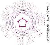 purple geometric figure... | Shutterstock .eps vector #1675899913