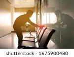 Blurred image of housekeeper...