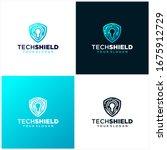 tech shield logo template... | Shutterstock .eps vector #1675912729