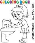Coloring Book Girl Washing...