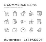 Simple Set Of E Commerce Line...
